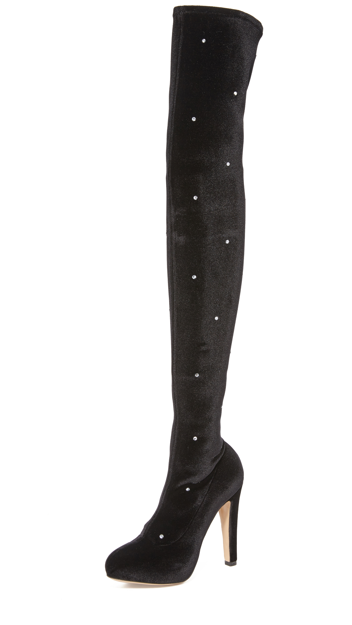 Charlotte Olympia Infinity And Beyond Knee High Boots - Black
