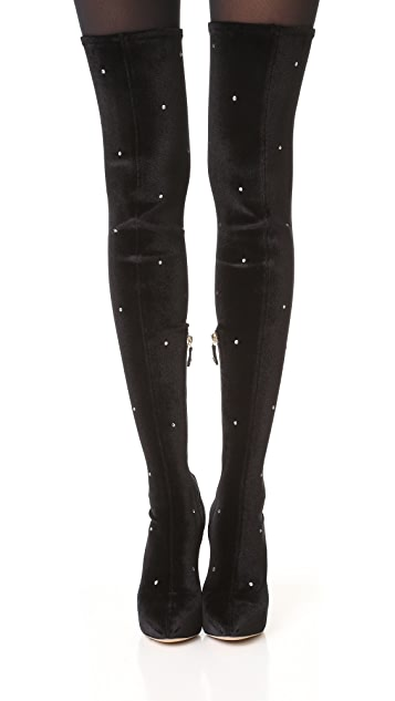 Charlotte Olympia Infinity and Beyond Knee High Boots