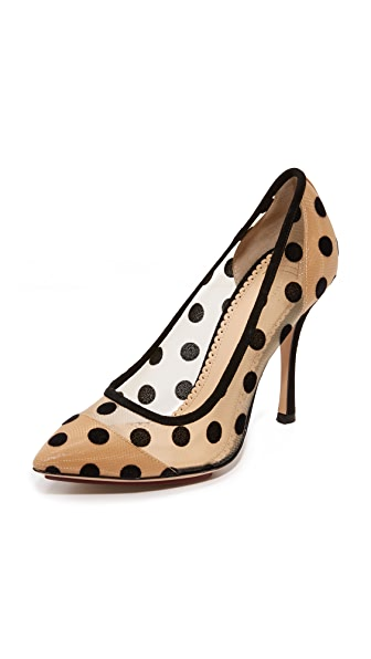 Charlotte Olympia Bacall Heart Shaped Pumps