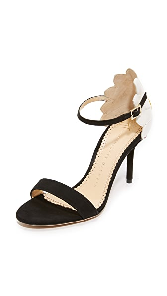 Charlotte Olympia Marge Daisy Sandals - Black/White/Sunshine Yellow