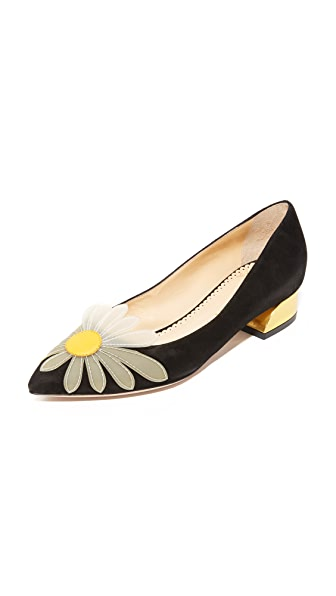 Charlotte Olympia Aster Daisy Court Shoes - Black/White/Sunshine Yellow