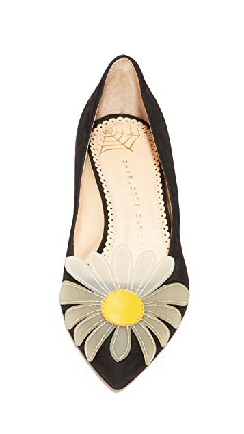 Charlotte Olympia Aster Daisy Court Shoes