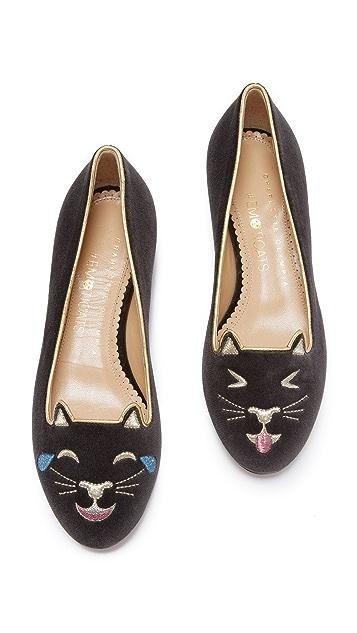 Charlotte Olympia Lol Kitty Flats