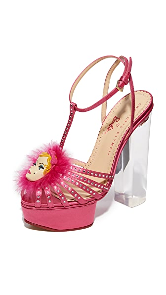 Charlotte Olympia Barbie Girl Platform Sandals - Pink