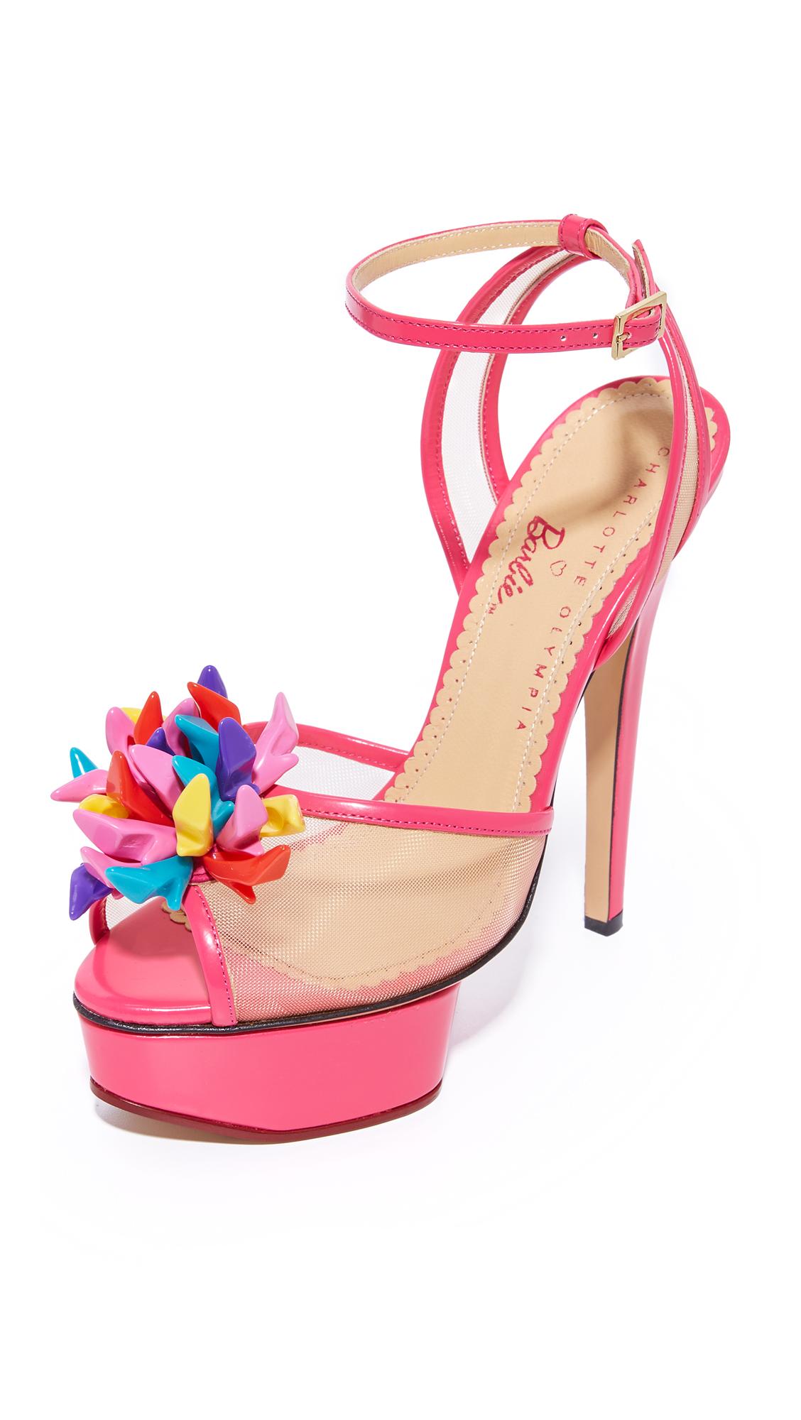 Charlotte Olympia Pomeline Platform Sandals - Pink at Shopbop