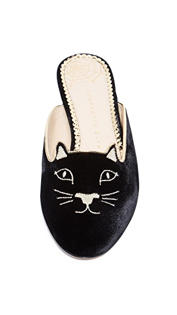 Charlotte Olympia Kitty Slippers