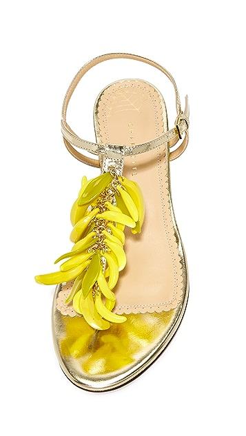 Charlotte Olympia Сандалии с подвесками в виде бананов