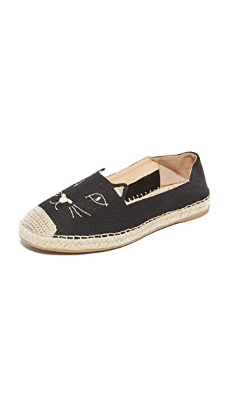 Charlotte Olympia Kitty Espadrilles - Black