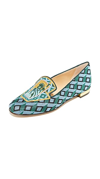 Charlotte Olympia Lady Liberty Slippers - Multi
