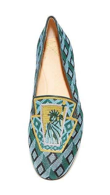 Charlotte Olympia Lady Liberty Slippers