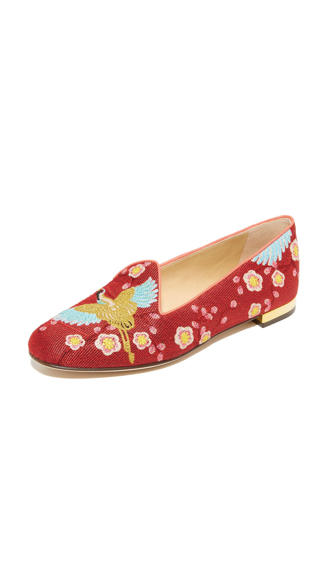 Charlotte Olympia Cherry Blossom Slippers