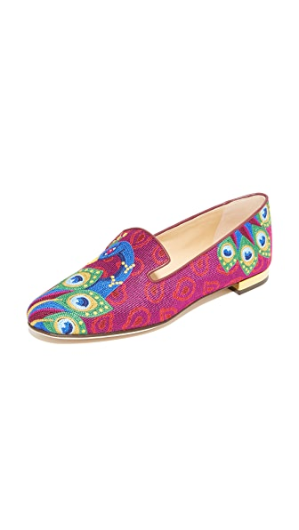 Charlotte Olympia Peacock Slippers - Multi