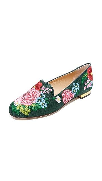 Charlotte Olympia Rose Garden Slippers