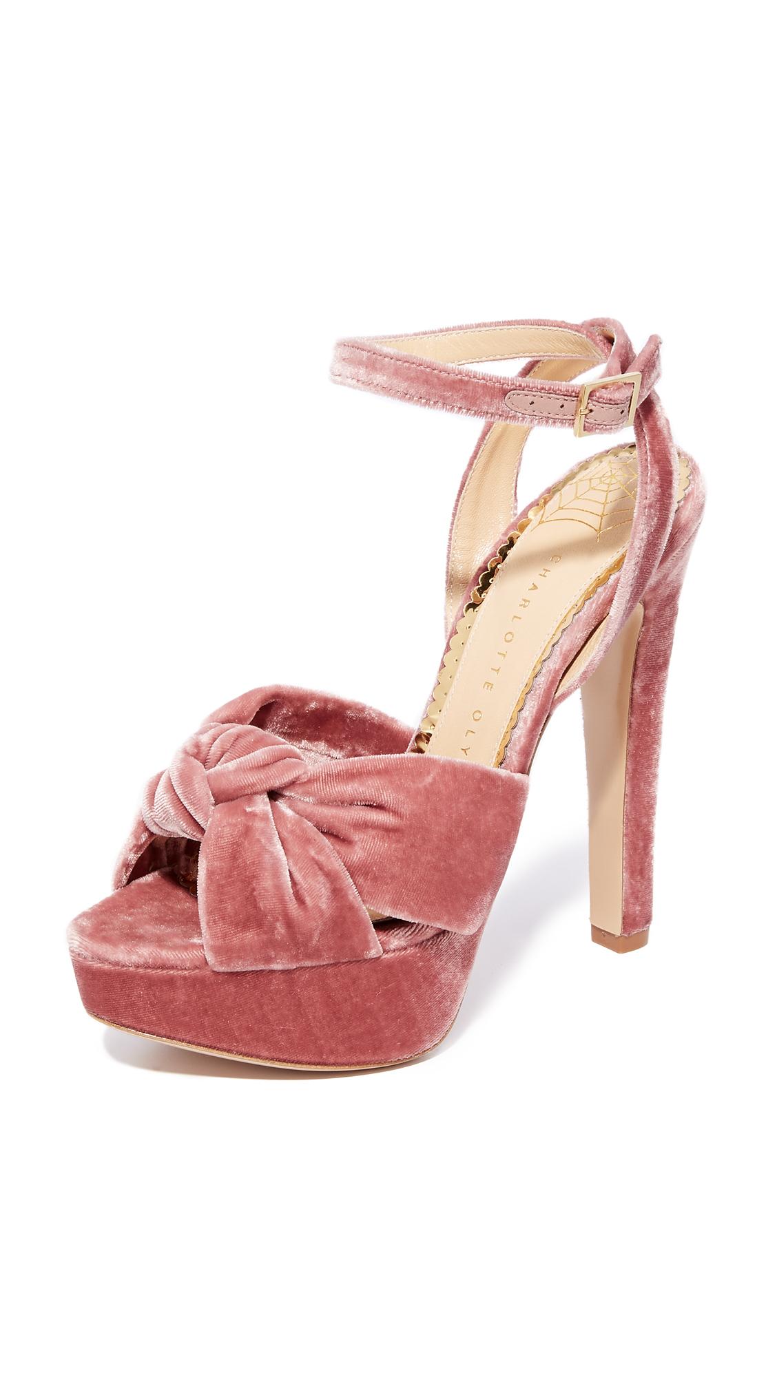 Charlotte Olympia Tiffani Ankle Strap Pumps - Blush