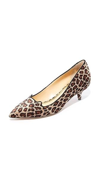 Charlotte Olympia Kitten Heels - Leopard