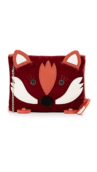 Charlotte Olympia Fox Pouch - Rust