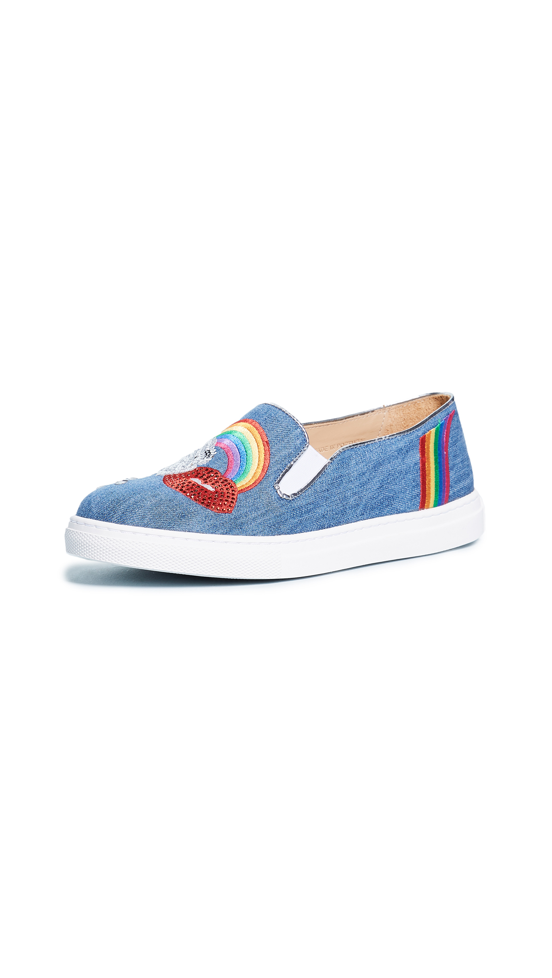 Charlotte Olympia Alex Slip On Sneakers - Light Denim