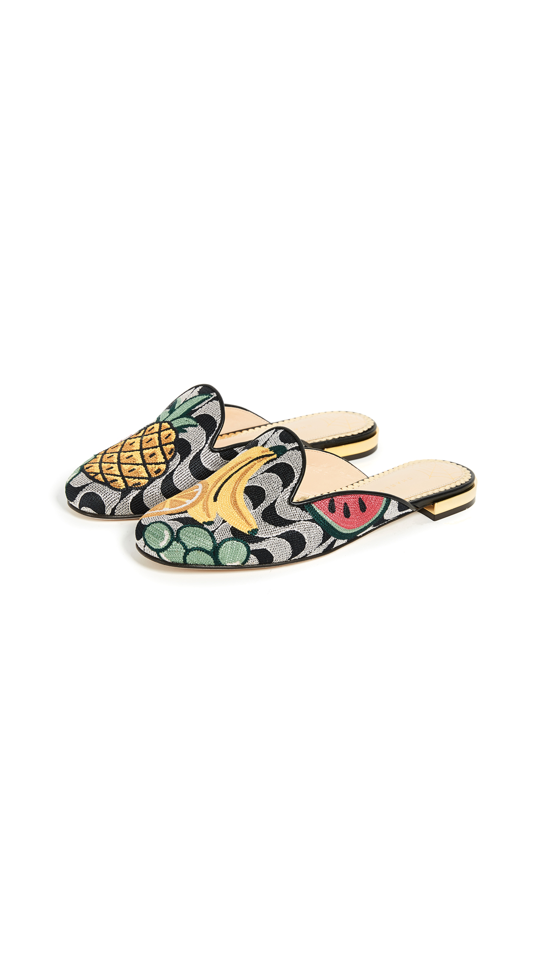 Charlotte Olympia Fruit Salad Slipper Mules - Multi