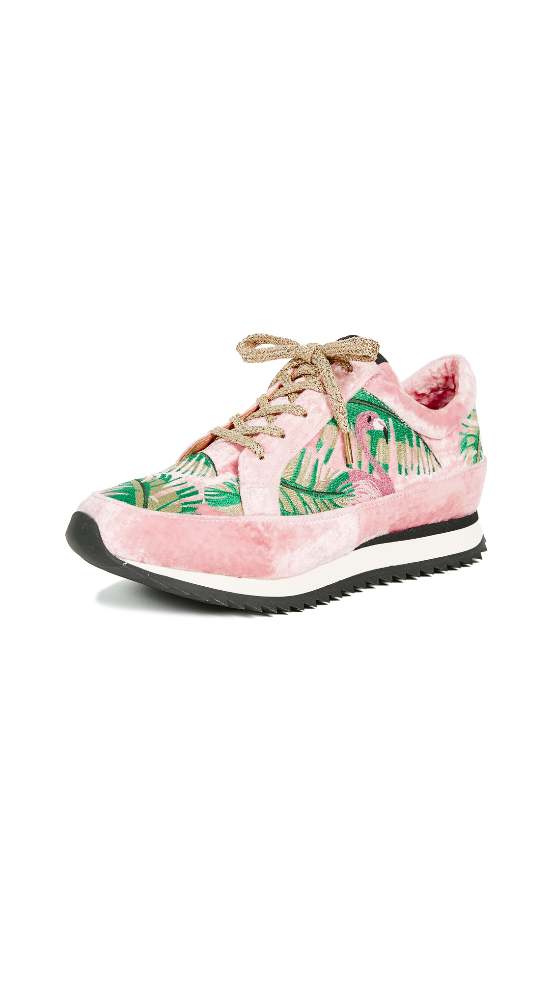 Charlotte Olympia Work It! Flamingo Sneakers - Pink