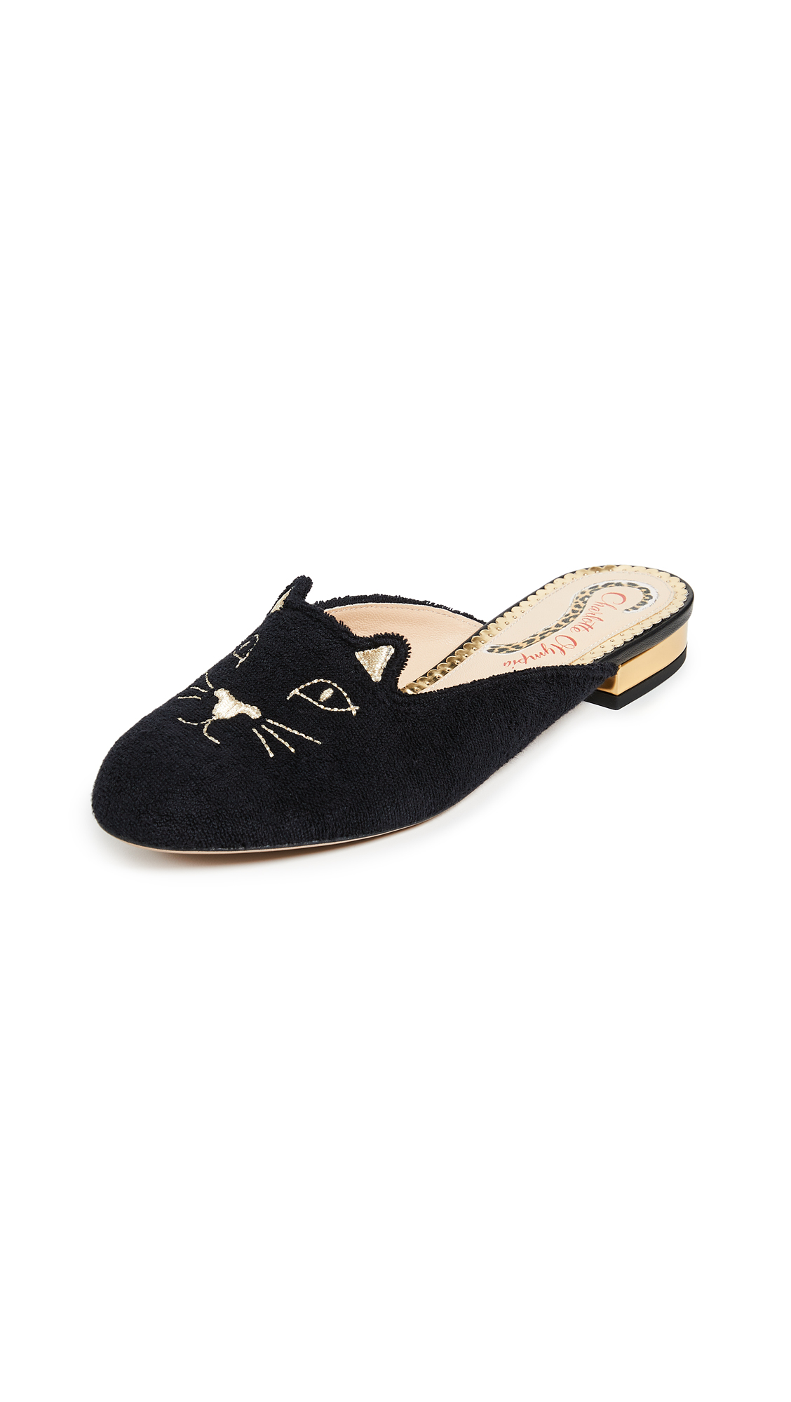 Buy Charlotte Olympia Kitty Slippers online, shop Charlotte Olympia