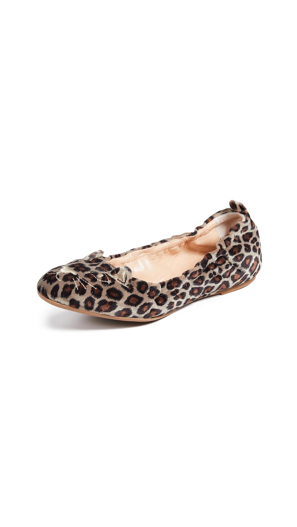 Charlotte Olympia Kitty Ballerina Flats - Leopard