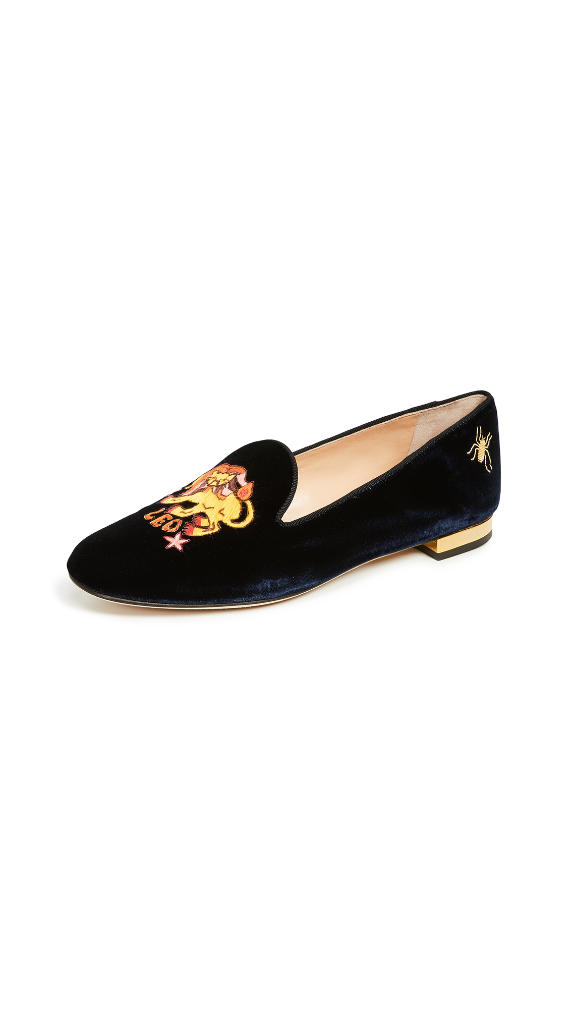 CHARLOTTE OLYMPIA LEO EMBROIDERED FLATS