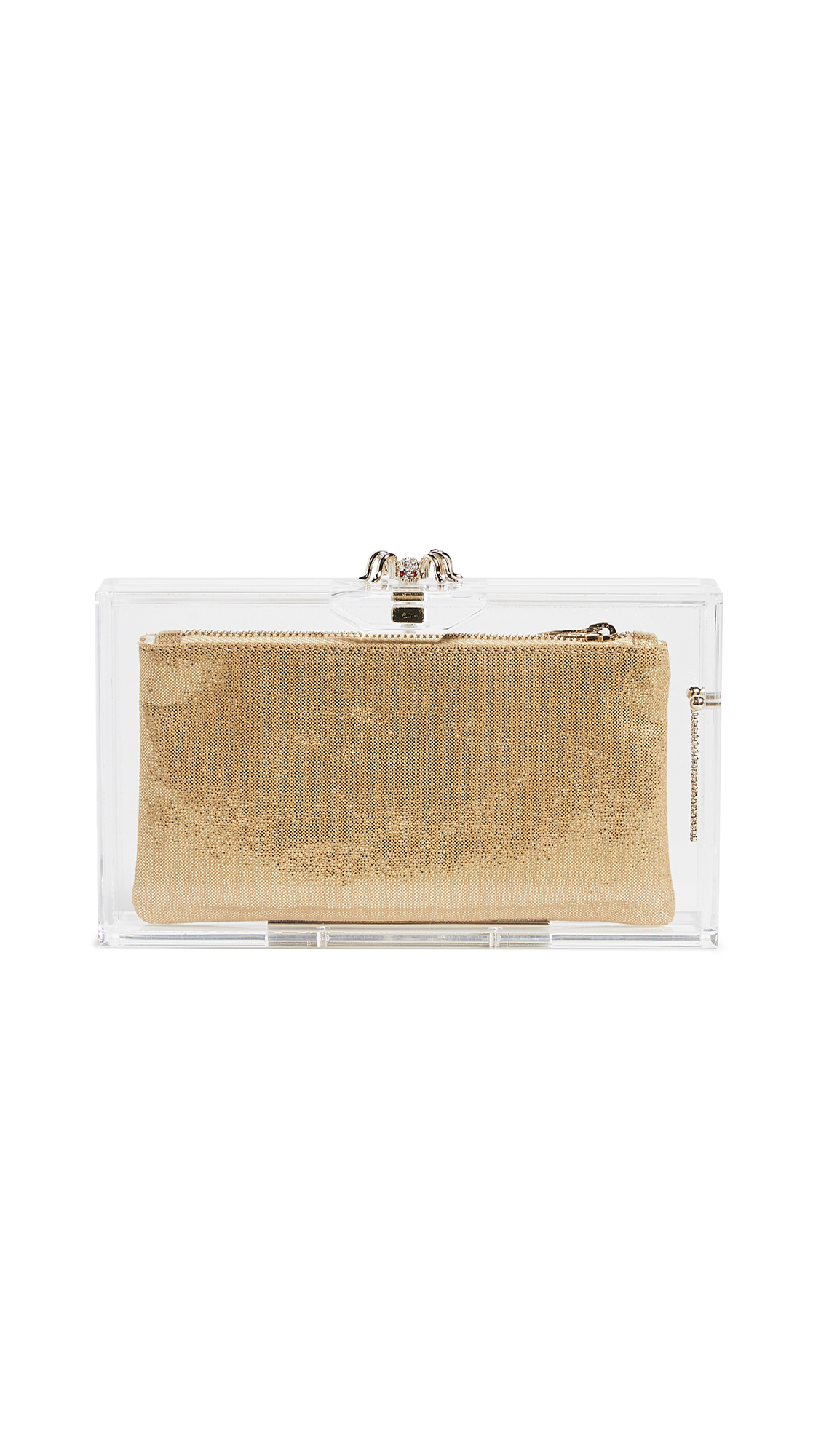 Charlotte Olympia Pandora Classic Clutch - Clear