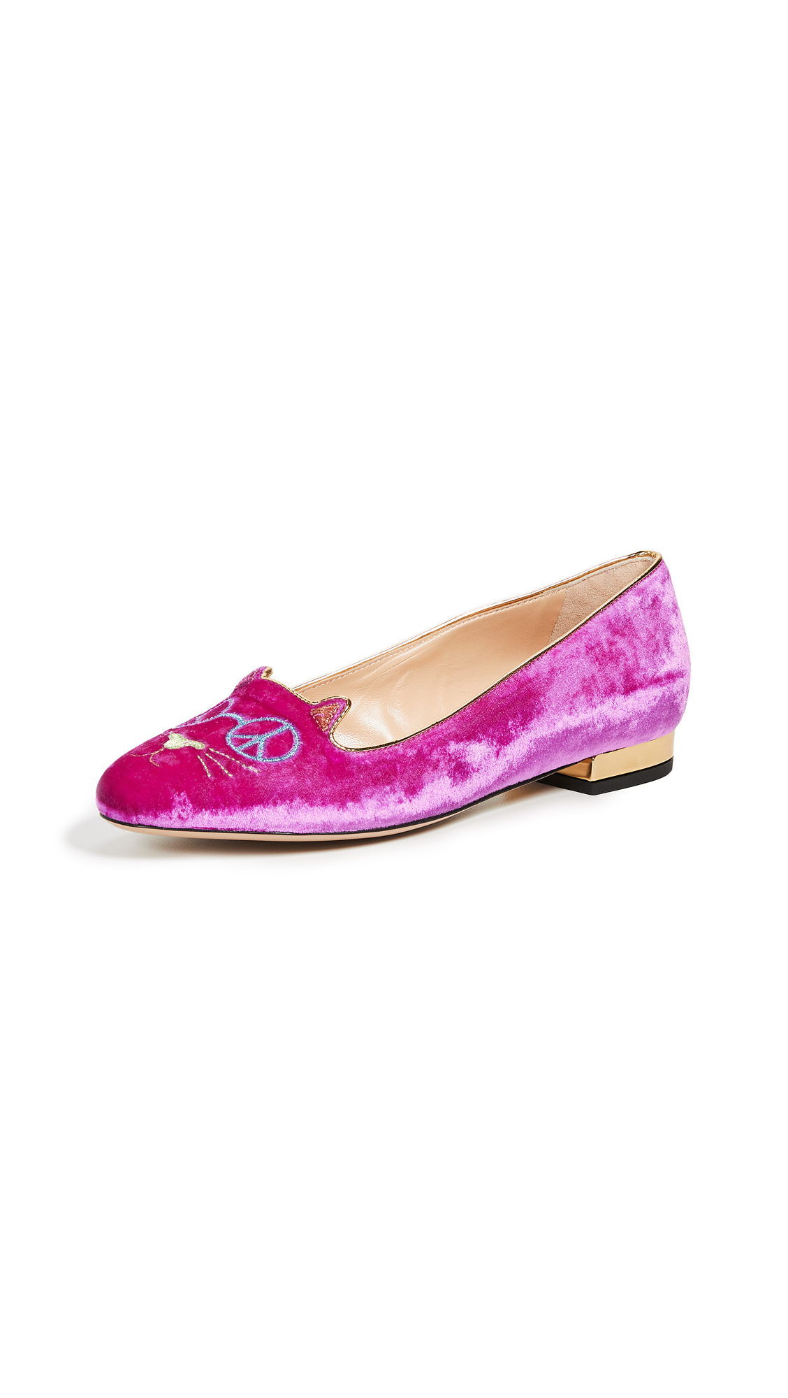 Charlotte Olympia Peaceful Kitty Flats