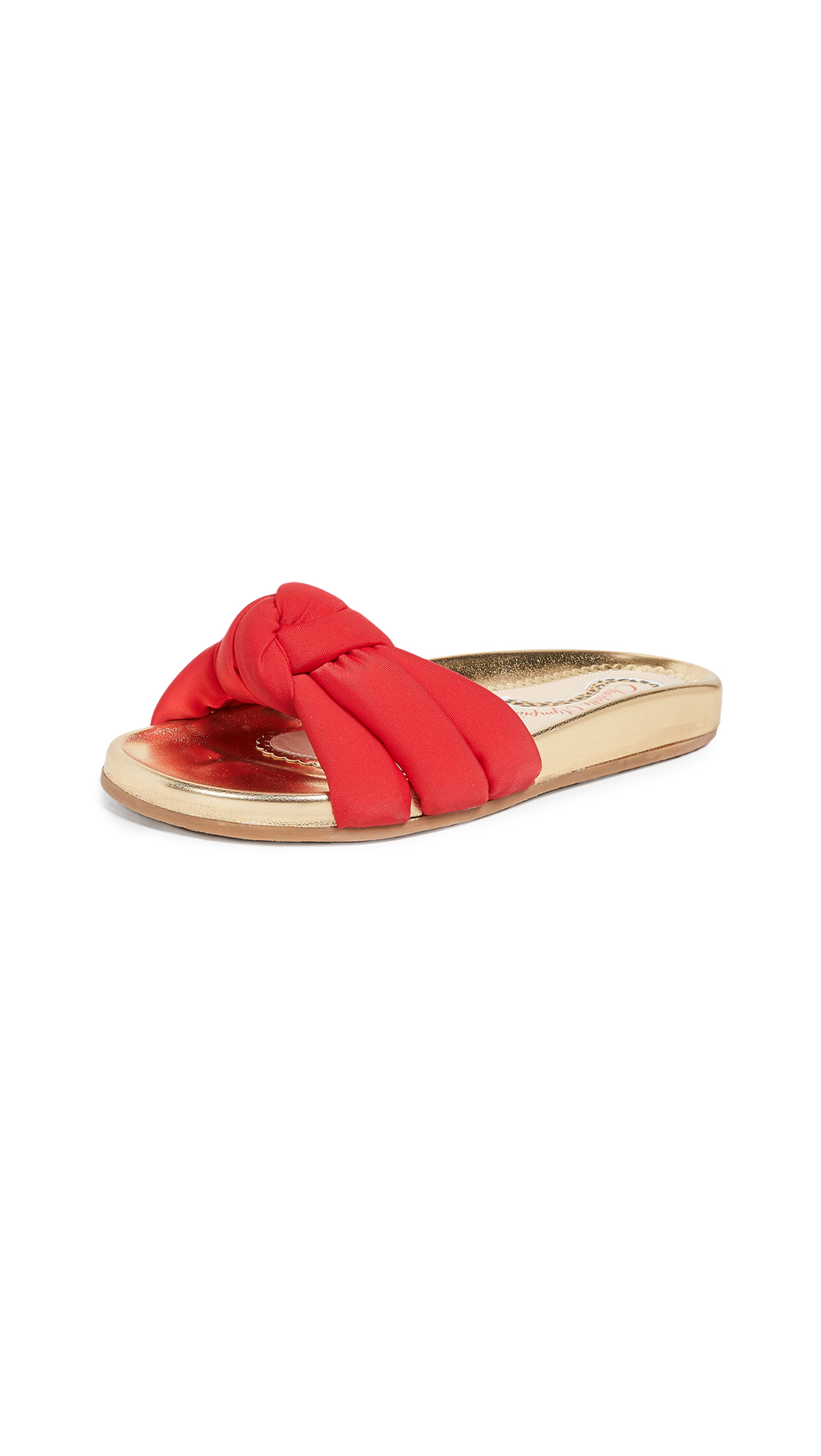 Charlotte Olympia Dylan Slide Sandals - Red