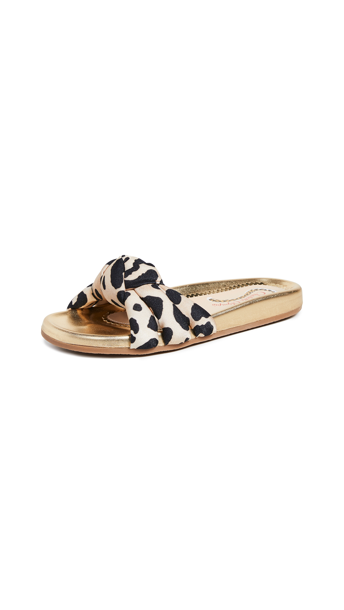 Charlotte Olympia Dylan Slide Sandals - Leopard