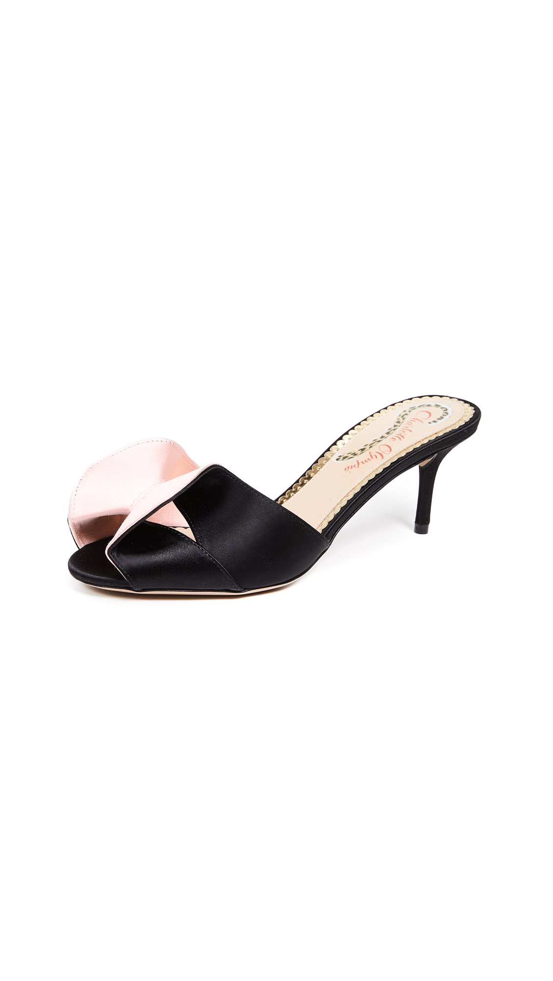 Vintage Mules in Black/Pale Pink