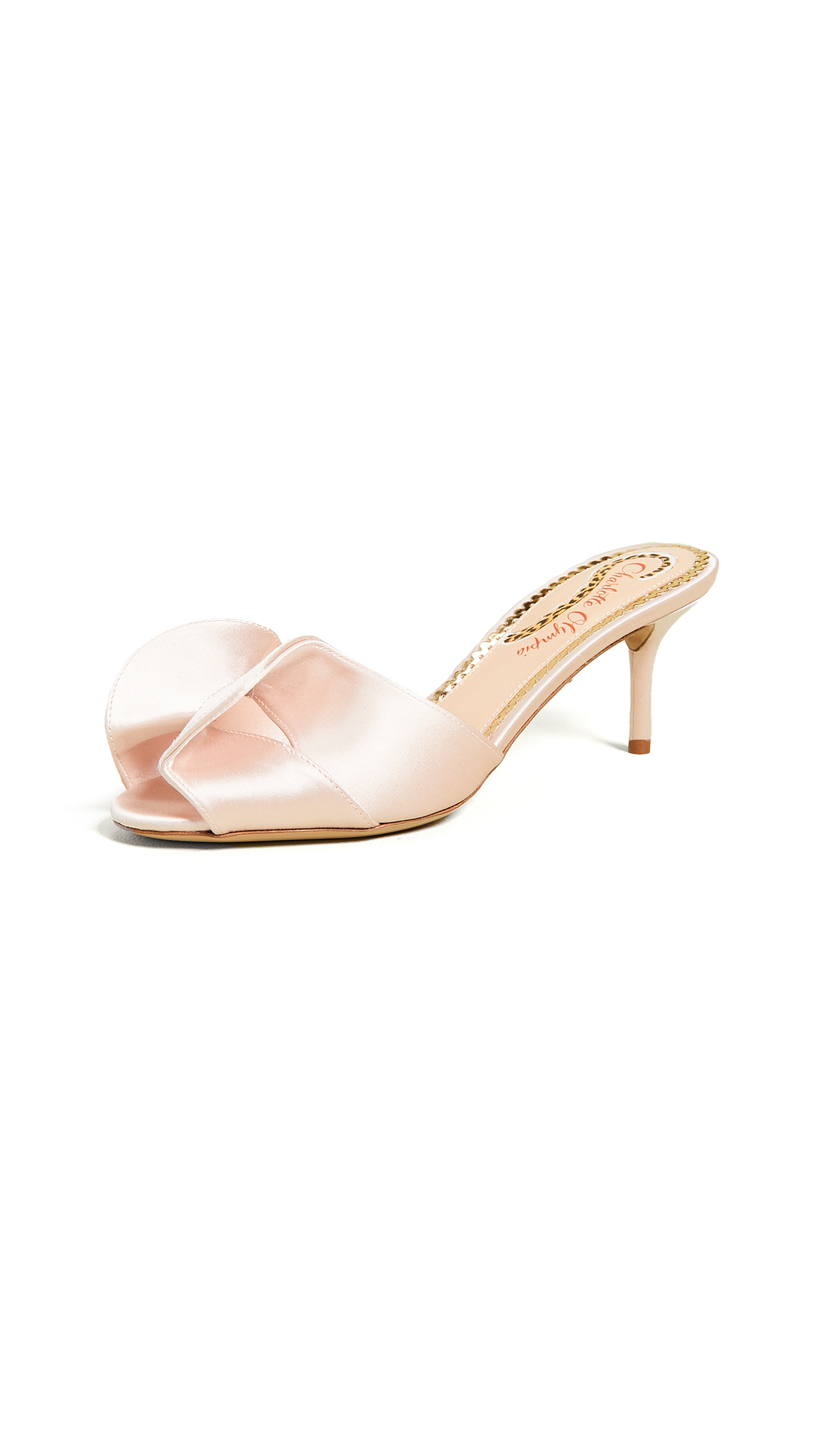 Charlotte Olympia Drew Slide Sandals - Pale Pink