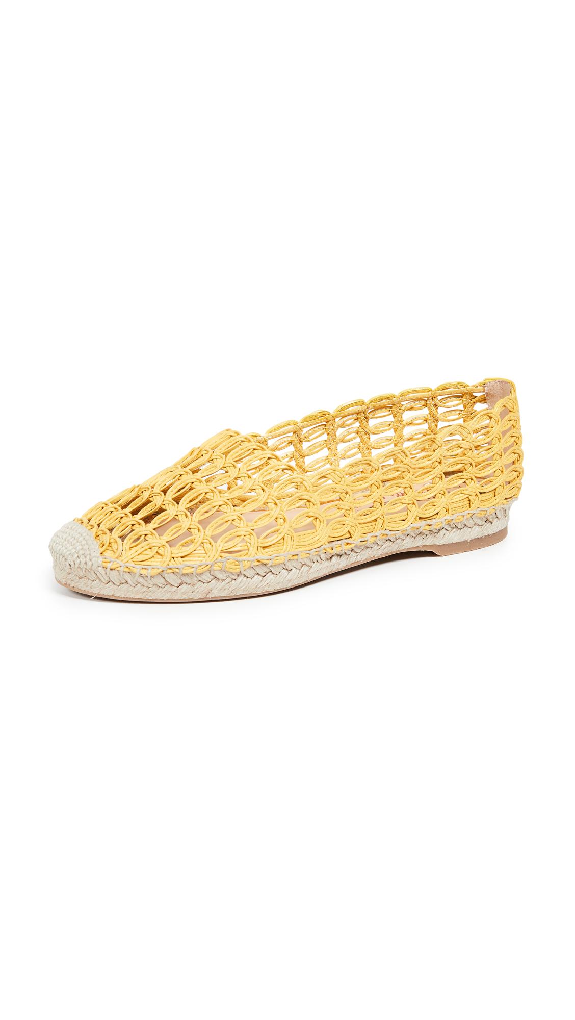 Charlotte Olympia Woven Espadrilles - Sunshine Yellow