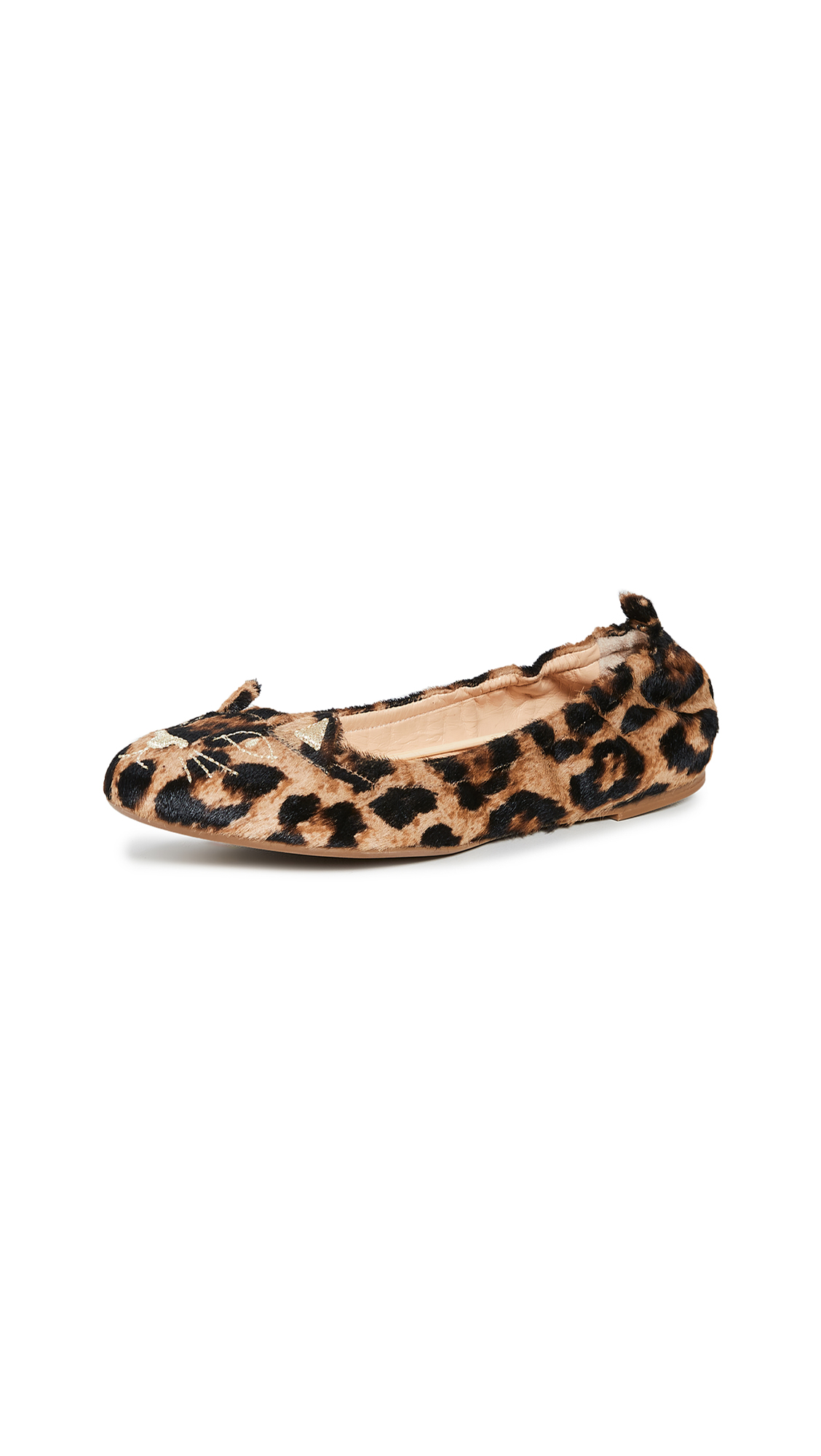 Charlotte Olympia Kitty Soft Ballet Flats In Leopard