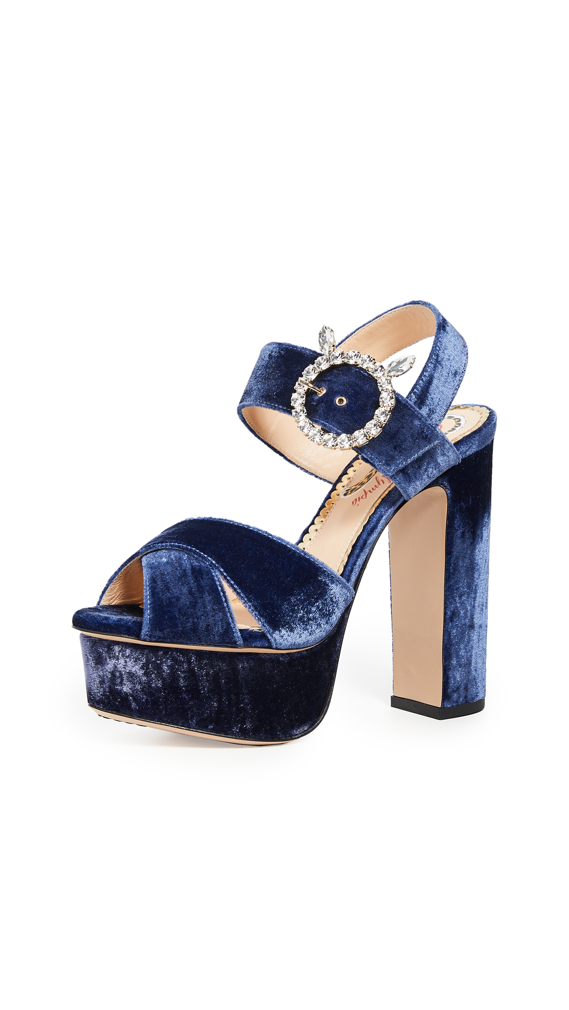 Buy Charlotte Olympia online - photo of Charlotte Olympia Aristocrat Tall Platform Sandals
