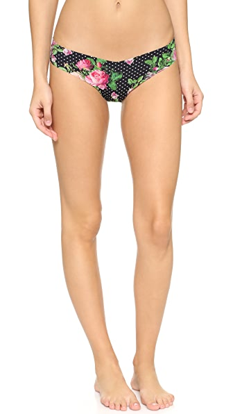 Commando Rose Dot Thong - Rose Dot Black