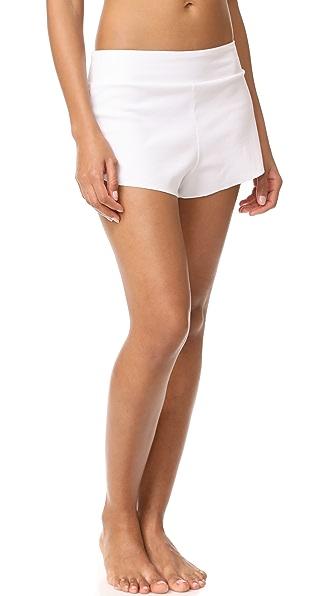 Commando Ribbed Boxer Shorts - White