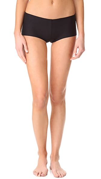 Commando Cotton Boy Shorts - Black