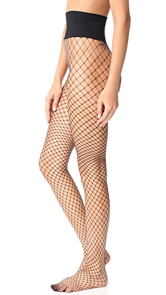 Commando Open Air Net Tights - Black