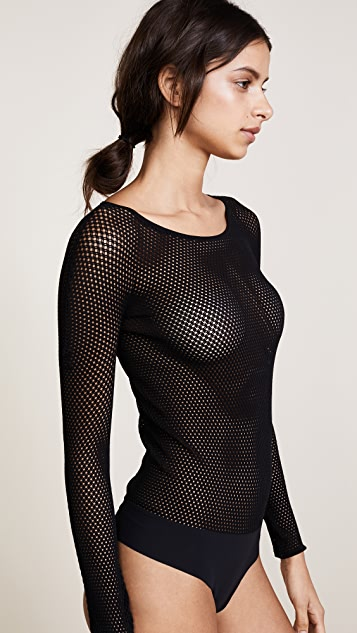 Commando Woven Net Bodysuit