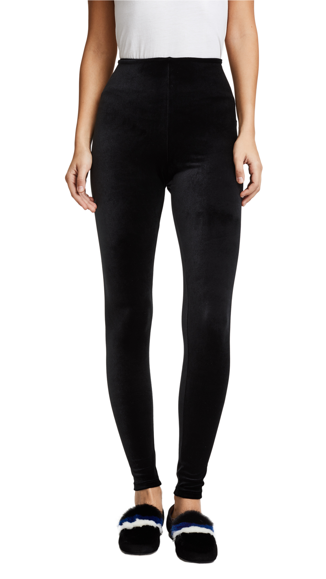 Commando Perfect Control Velour Leggings In Black