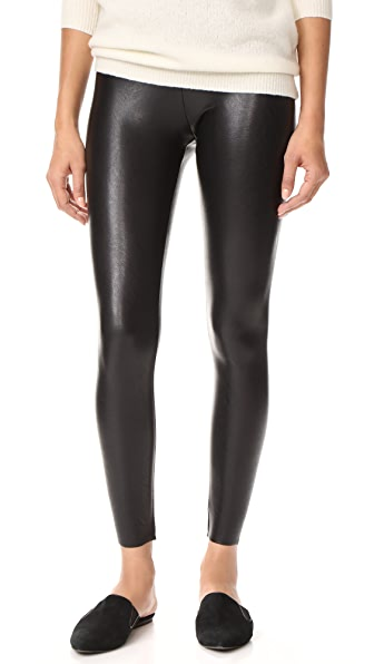 Commando Perfect Control Faux Leather Leggings - Black