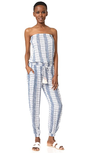 coolchange Brooke Jumpsuit Pacific Stripe - Vintage