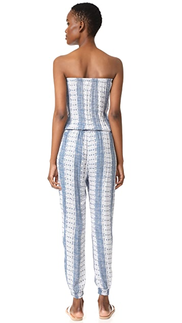 coolchange Brooke Jumpsuit Pacific Stripe