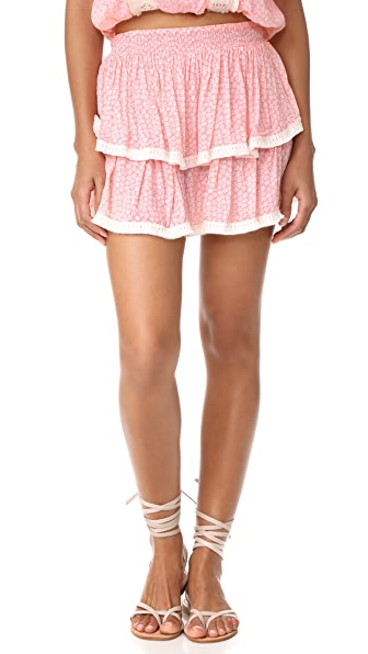 coolchange Nelly Skirt Wildflower - Guava