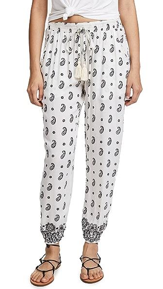 coolchange Ubud Pants In Cream/Black