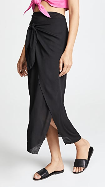 COOL CHANGE Solid Nuella Skirt in Black