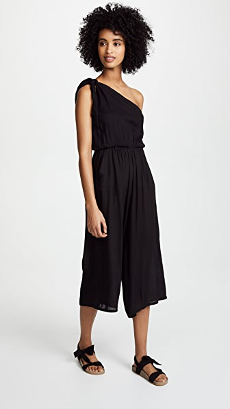 COOL CHANGE Solid Faye Jumpsuit in Black