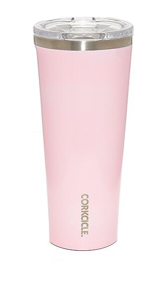 Corkcicle Gloss 24oz Tumbler In Gloss Rose Quartz