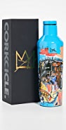 Corkcicle 16oz Canteen Gloss Basquiat Blue Skull
